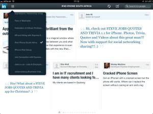 "<h3> LinkedIn iPad App. WeszMadz looks into it.</h3>    <a href=""http://wesley.co.za/newipadapp/"">photo11</a>"