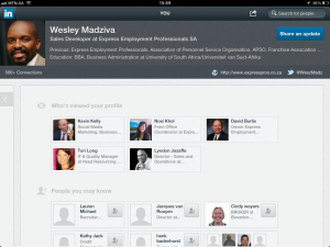 "<h3> LinkedIn iPad App. WeszMadz looks into it.</h3>    <a href=""http://wesley.co.za/newipadapp/"">photo2</a>"